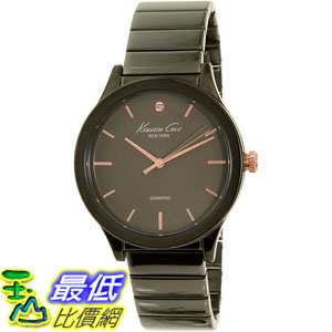 [105美國直購] Kenneth Cole Women's 女士手錶 New York 10026579 Black Stainless-Steel Quartz Watch