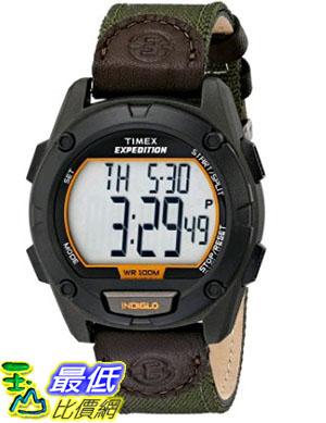 [105美國直購] Timex Mens T499479J Expedition Stainless Steel Digital Watch with Green Nylon Band