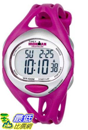 [105美國直購] Timex Womens T5K7599J Ironman Sleek 50-Lap Fuchsia Resin Strap Watch