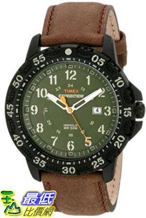 [105美國直購] Timex Mens T499969J Expedition Camper Trail Watch with Brown Leather Band