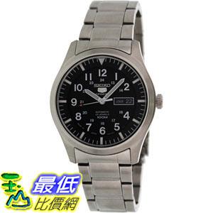 [105美國直購] Seiko Men's 5 男士手錶 Automatic SNZG13K Black Stainless-Steel Automatic Watch