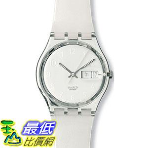 [105美國直購] Swatch Men's 男士手錶 Originals GK733 White Plastic Quartz Watch