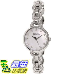 [105美國直購] Bulova Women's 女士手錶 Crystal 96L203 Silver Stainless-Steel Quartz Watch