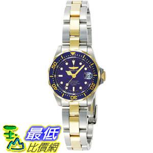[105美國直購] Invicta Women's 女士手錶 Pro Diver GQ 8942 Blue Steel Two-tone Quartz Watch
