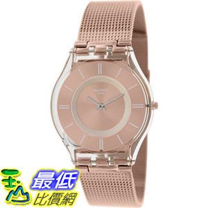 [105美國直購] Swatch Women's 女士手錶 Skin SFP115M Rose-Gold Stainless-Steel Swiss Quartz Watch