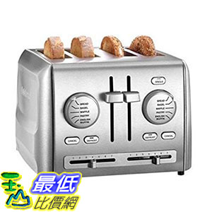 [美國直購] Cuisinart CPT-640 烤麵包機 吐司機 4-Slice Metal Toaster, Stainless Steel