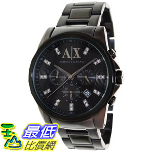 [105美國直購] Armani Exchange Men's 男士手錶 AX2093 Black Stainless-Steel Quartz Watch