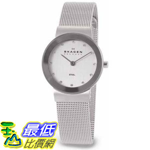 [105美國直購] Skagen Women's 女士手錶 Classic 358SSSD Silver Stainless-Steel Quartz Watch