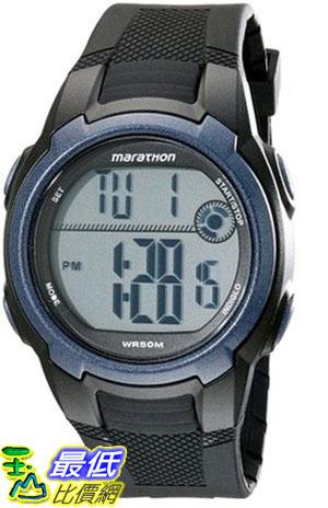 [105美國直購] Timex Mens T5K820M6 Marathon Digital Watch With Black Resin Band