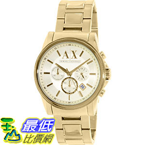 [105美國直購] Armani Exchange Men's 男士手錶 AX2099 Gold Stainless-Steel Quartz Watch