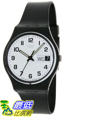 [105美國直購] Swatch Men's 男士手錶 Irony GB743 Black Rubber Swiss Quartz Watch