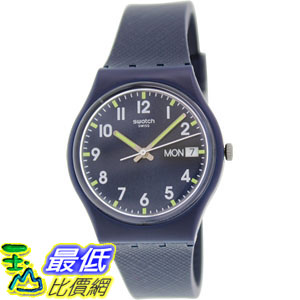[105美國直購] Swatch Women's 女士手錶 Originals GN718 Blue Rubber Swiss Quartz Watch
