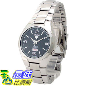 [105美國直購] Seiko Men's 男士手錶 5 Automatic SNK623K Black Stainless-Steel Automatic Watch