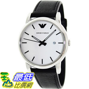 [105美國直購] Emporio Armani Men's 男士手錶 Classic AR1694 White Leather Quartz Watch