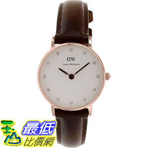 [105美國直購] Daniel Wellington Women's 女士手錶 Classy Bristol 0903DW Brown Leather Quartz Watch