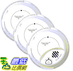 [美國直購] First Alert 煙霧偵測器 Hardwired 120V AC Smoke & Fire Alarm, 3-pack _A1102871