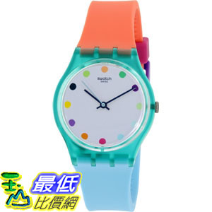 [105美國直購] Swatch Women's 女士手錶 Originals GG219 Multi Silicone Swiss Quartz Watch
