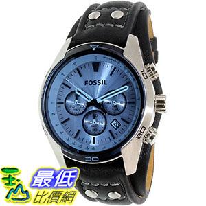 [105美國直購] Fossil Men's 男士手錶 Coachman CH2564 Blue Leather Quartz Watch