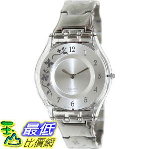 [105美國直購] Swatch Women's 女士手錶 Skin SFK300G Silver Stainless-Steel Quartz Watch
