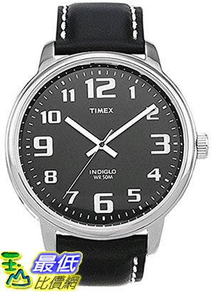 [105美國直購] Timex Mens #T28071 Easy Reader Watch With Black Leather Band