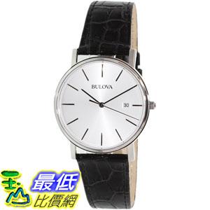 [105美國直購] Bulova Men's 男士手錶 Dress 96B104 Black Leather Quartz Watch