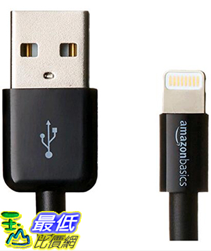 [美國直購] 暢銷冠軍 亞馬遜 iphone 認證線 黑 AmazonBasics Apple Certified Lightning to USB Cable-3 Feet(0.9 Meters)-Black