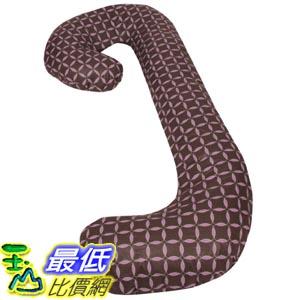 [105美國直購] Leachco 拉鍊式 孕婦枕套 格子款 Snoogle Chic - 100% Cotton Snoogle Replacement Cover Brown & Lilac Rings