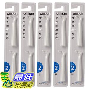 [東京直購] OMRON SB-092-5P (HT-B307 B305 B306 適用) 音波式電動牙刷 齒縫型替換刷頭 10入組