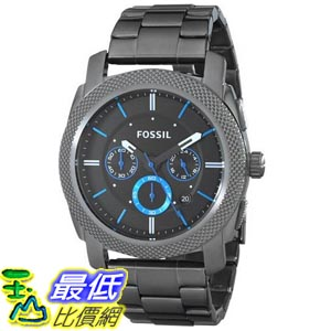 [美國直購] Fossil Men's FS4931 Machine Gunmetal-Tone Stainless Steel Bracelet Watch 男士手錶