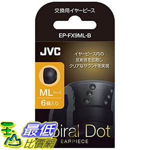 [東京直購] JVC EP-FX9ML-B ML SIZE 6個入 耳道式耳機 交換用耳塞