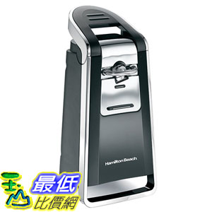 [美國直購] Hamilton Beach 76606ZA 開罐機 電動開罐器 Smooth Touch Can Opener, Black and Chrome_a246