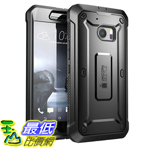 [105美國直購] SUPCASE HTC 10 Case 黑色 [Unicorn Beetle PRO Series] 手機殼 保護殼 _TB26