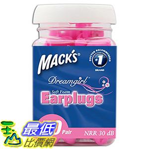 [美國直購] Mack's Mac-6307 Ear Care Dreamgirl Soft Foam Earplugs, 50 Count 耳塞