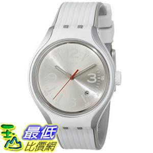 [美國直購] Swatch Men's YES4005 Irony Analog Display Swiss Quartz White Watch 手錶