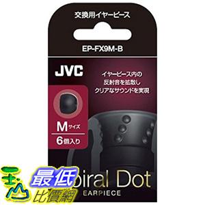 [東京直購] JVC EP-FX9M-B M SIZE 6個入 耳道式耳機 交換用耳塞