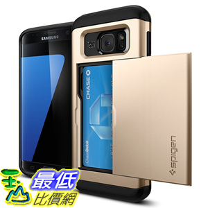 [美國直購] Spigen Galaxy S7 Edge Case 金灰白三色 手機殼 保護殼 [Slim Armor CS] Card Holder
