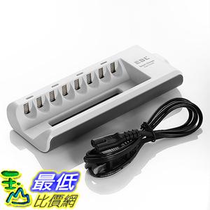 [美國直購] EBL EBL-808 8 Bay 3號/4號電池充電器 AA, AAA, Ni-MH, Ni-Cd Rechargeable Battery Charger