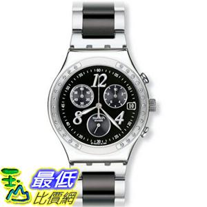 [美國直購] Swatch Men's YCS485G Quartz Chronograph Stainless Steel Black Dial Watch 手錶