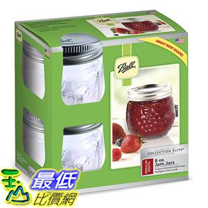 [美國直購] Ball 1440081210 一般口徑 4入 梅森 莓果造型 Jelly Elite Collection Jam Jar (4 Pack), 8 oz, Clear 果醬罐 玻璃罐