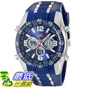 [美國直購] U.S. Polo US9284 手錶 Assn. Sport Men's Blue and Silver-Tone Analog/Digital Chronograph Watch