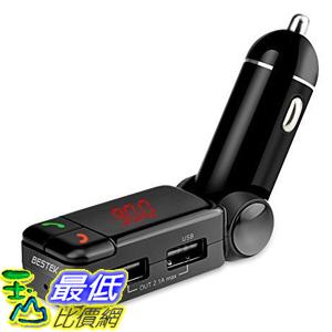 [美國代購] BESTEK BTBC06 車充 傳送器 In-Car FM Transmitter with Dual USB Charging, Music Control, Card Reading + AUX Input