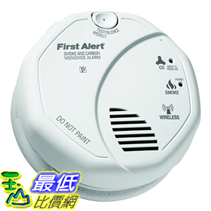 [美國直購] First Alert ZCOMBO 煙霧警報器 2-in-1 Z-Wave Smoke & Carbon Monoxide Alarm, Cert ID: ZC08-13060006