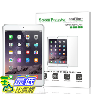 [美國直購 現貨] amFilm iPad Pro 9.7 保護貼 0.33m 2.5D Round Edge Tempered Glass Screen Protector iPad Air 2, iPad Air (_A118)