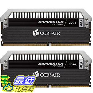 [美國直購] Corsair 海盜船 Dominator Platinum Series 16GB (2 x 8GB) DDR4 DRAM 3200MHz (PC4-25600) C16 Memory Kit
