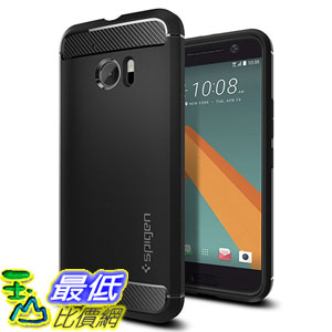 [美國直購] Spigen H09CS20276 HTC 10 Case 手機殼 保護殼 [Rugged Armor] Resilient [Black]