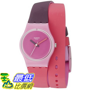 [美國直購] Swatch Women's LP137 Fun In Pink Analog Display Quartz Multi-Color Watch 手錶