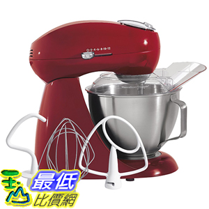 [美國直購] Hamilton Beach 63232 Eclectrics All-Metal Stand Mixer - Red 攪拌機