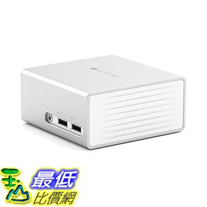 [美國直購] Satechi Aluminum 銀色 集線器 Mini Docking Station for Windows 10 4K HDMI,DVI,Gigabit Ethernet,3.5mm AUX,4 USB 3.0
