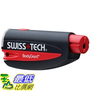 [美國直購] Swiss+Tech ST81010 破窗割安全帶 緊急自救 救援鑰匙圈 Black/Red 3合1 BodyGuard Auto Emergency Escape Tool