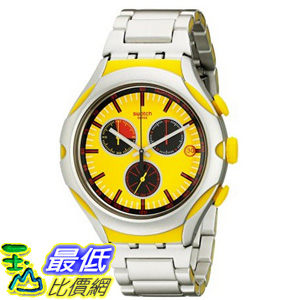 [美國直購] Swatch Men's YYS4002AG Irony Analog Display Swiss Quartz Silver Watch 手錶